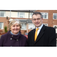 Cllr Paul Ray Chadsmead (Lichfield) with Marion Bland