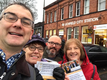 Paul Ray & Team Campaigning at Lichfield City Station